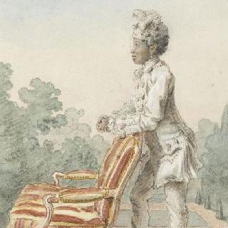 오귀스트. 새르트르 공작부인의 젊은 흑인 노예