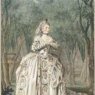 피람과 티베 오페라 속의 소피 다르누 양의 초상 (1744-1803)