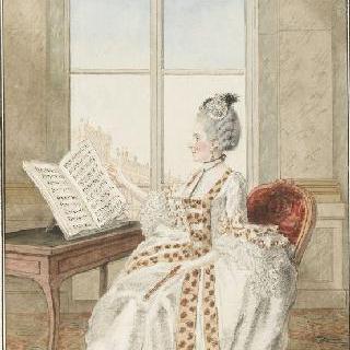 아브나르 양, 왕비의 콘서트에서 연주를 하는 가장 실력있는 음악의 명인