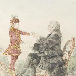 파리의 공증인 믈랭과 손자 그라비에르