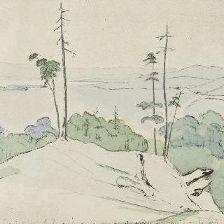 미국의 풍경 앨범 : 챔플레인 호수의 전경 (1816년 8월 17일)