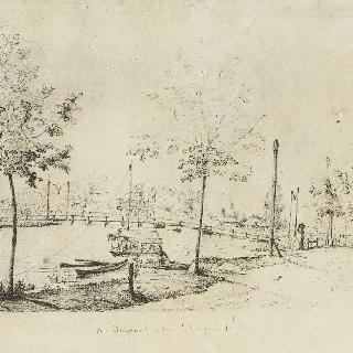 성 요한 늪의 운하 위의 다리 (1830년 5월 28일)