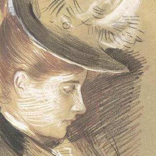 모자를 쓴 젊은 여인