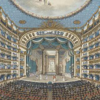 나폴리의 산 카를로 극장 내부