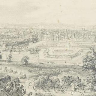 퐁텐블로 성과 도시 전경