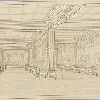 베르사유 궁, 궁전의 왕실 저택의 살롱 전경