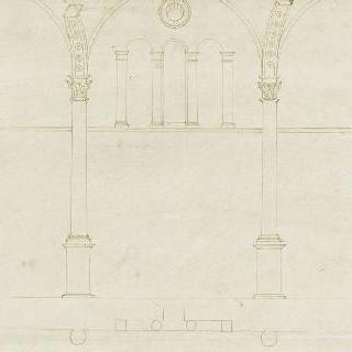 로마 판테온의 바실리카 회당의 내부 장식