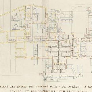 루테티아 온천과 클루니 호텔의 복원, 도판 3, 현재 상태