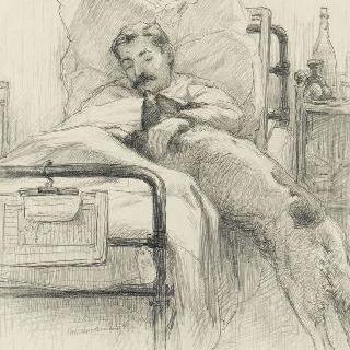 병원 침대 위의 부상자