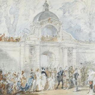 퐁텐블로 성의 루이 13세의 세례식