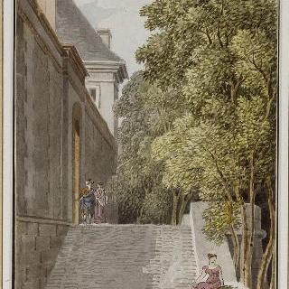 퐁텐블로 성 해자 위의 오렌지 정원 문