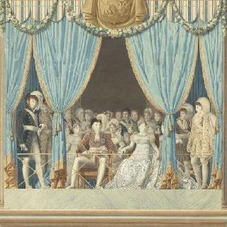 발코니에 나타난 황실 가족
