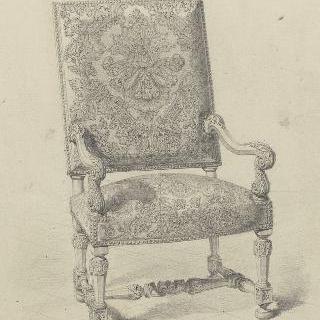 퐁텐블로 궁 연구 : 자수 안락의자