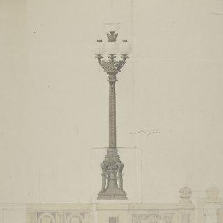 파리 레퍼블릭크 광장 : 가로등의 꼭대기 장식과 난간 습작