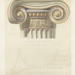아테네, 에렉테움 신전, 북쪽 회랑의 기둥머리 습작 이미지