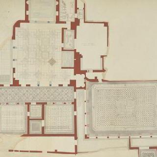 오스티, 고대 가옥 군상, 도면과 포장 도면