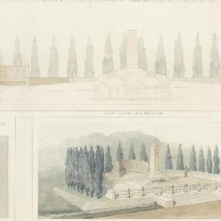 쿨미에르 전투의 기념물과 묘비 계획안