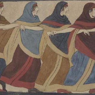 나폴리 국립 미술관의 루보의 에트루리아인의 무덤의 회화, 장례식의 가무