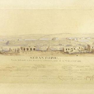 세바스토폴, 1855년 9월 15일 도시에서 바라본 말라코프와 군사 거리의 전경