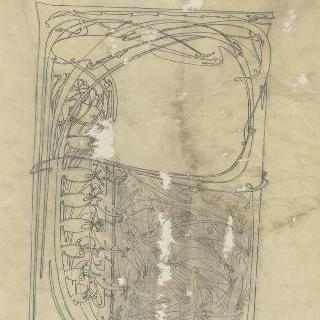 1899년 예술 잡지의 표지 계획안