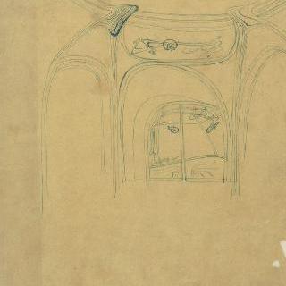 노잘씨의 대저택 : 응접실의 트인 공간의 내부 전경