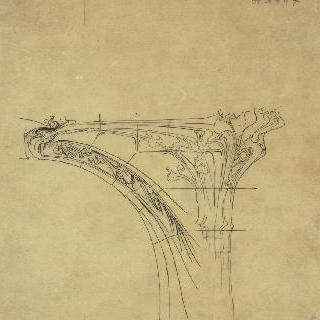 정면의 주조 기둥 높이의 크로키