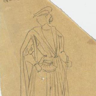 중세 의복을 입은 남자