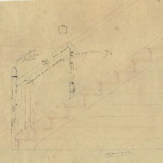 코톨로씨의 상점, 받침기둥,난간과 지하층의 계단 세부 묘사