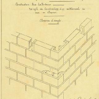 카스텔 베랑제르 : 벽면 내장 공사 건설의 세부 묘사