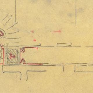카스텔 베랑제르 : 중앙 측면의 현관과 복도 도면