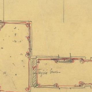카스텔 베랑제르 : 입구 도면, 1층, 거리 쪽 건물