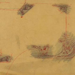 카스텔 베랑제르 : D 현관의 신발 흙털개 주변의 모자이크 장식