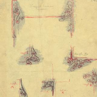 카스텔 베랑제르 : A 현관의 신발 흙털개 주변의 모자이크 장식
