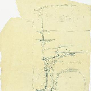 카스텔 베랑제르 : 벽난로와 장식 거울 계획안
