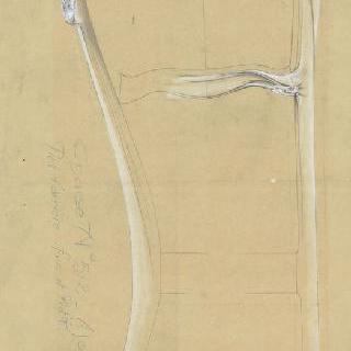 의자 계획안 : 구조의 뒷부분과 단면도, 등받이와 발