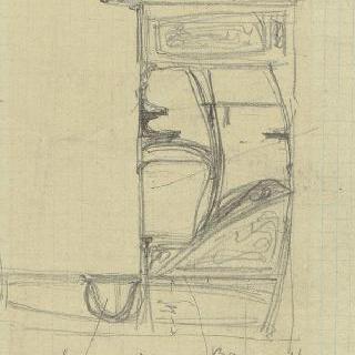 카스텔 베랑제르 : 현관, 문이 달린 가구와 선반
