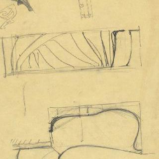 카스텔 베랑제르 : 현관, 문이 달린 가구와 현관의 선반