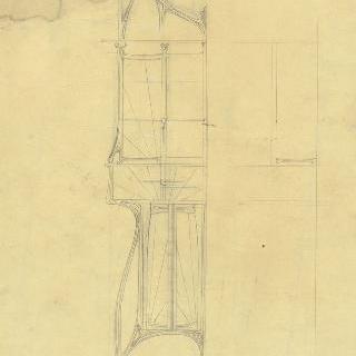 카스텔 베랑제르 : 도서관, 문이 달린 서랍장과 책상 선반