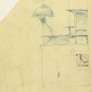 카스텔 베랑제르 : 사무실의 문이 달린 가구와 선반 초벌화