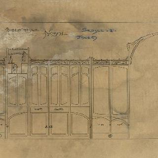 노잘씨의 대저택, 도서관 : 계획안 1번의 전개된 모습, A면