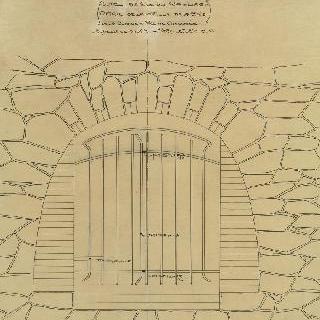 노잘씨의 대저택, 2번째 계획안, 부엌의 트인 공간의 격자