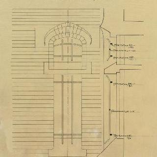 노잘씨의 대저택, 2번째 계획안, 2층 뚫린 공간의 격자