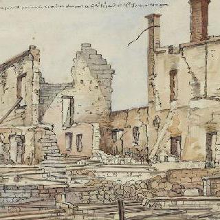 거리의 크로키. 블레랑쿠르 성 중앙의 폐허
