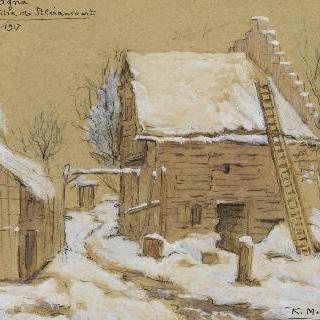 거리의 크로키. 1917년 1월 블레랑쿠르 성 중앙의 마 카그나