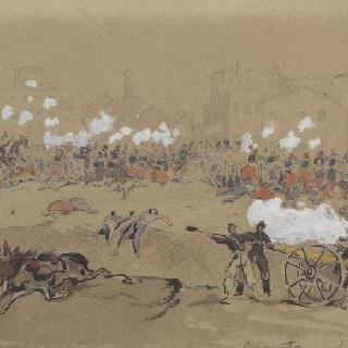 1859년 6월 4일 마젠타 거리 전투의 나폴레옹 3세