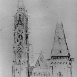 고딕 대성당의 탑