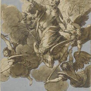 천국으로 인도되는 성 바오르