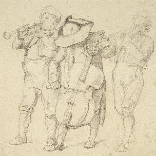 바이올린을 연주하는 세 명의 연주가