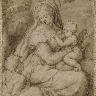 아기 예수에게 젖을 먹이는 성모와 작은 성 요한