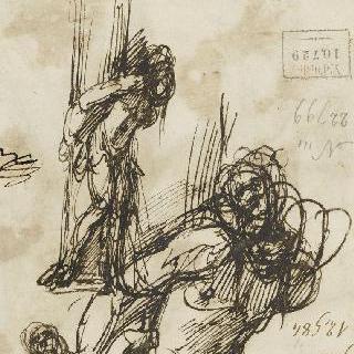 원주에 묶인 성 세바스찬의 습작